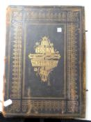 A 19th century leather bound family bible