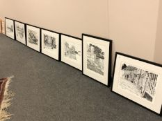 After Anthony Mackay : Seven monochrome prints, signed in pencil, all parts limited editions,