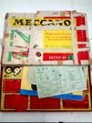 A boxed Meccano Outfit No.