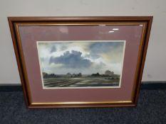 A M Foster watercolour, rural Oxfordshire,