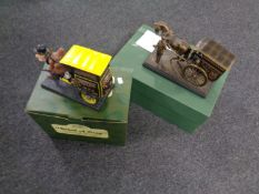 Two boxed Ringtons ornaments,
