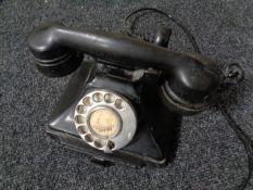 A Bakelite cased GPO telephone