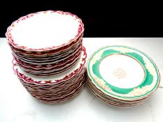 Thirty-one 19th century dinner and side plates and dessert bowls