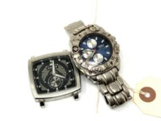 Two Gent's watches by America sports and Police CONDITION REPORT: Currently non
