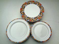 Eighteen Steelite plates