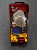 A Mrlae defibrillator in carry case