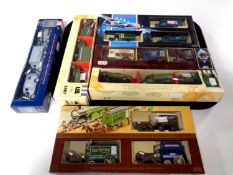 A tray containing six die cast car sets to include Pearl Harbour collection,