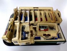 A tray containing Days Gone die cast vehicles (boxed)
