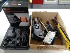 An RAC HP560 five in one jump starter, together with a further Richmond compressor,