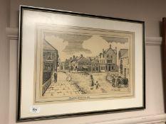 James Egen : Sand Hill Winlaton, pen and ink,
