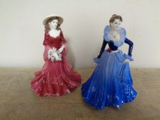 Two Coalport Ladies of Fashion figures Anne 1997 and Four Seasons -Winter