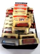 A tray containing approximately 25 die cast vehicles to include Matchbox, Days Gone,