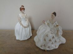 Two Royal Doulton figures My Love HN 2339 and Ann HN 2739