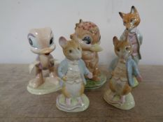 Two David Hands Animal Land Beswick figures Dinkum Platypus and Oscar Ostrich,