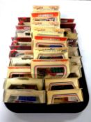 A tray containing approximately 25 boxed die cast vehicles to include Days Gone,