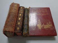 A box containing four antiquarian volumes to include The Making of the River Tyne by R W Johnson,
