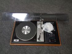 A Dynatron music centre with a Goldring G102 belt driven turntable