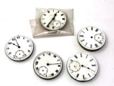 Five pocket watch movements