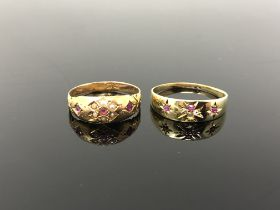 Two antique rings set in 15ct and 18ct gold