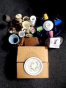 A boxed 20 piece Hornsea Oatmeals starter set together with a further box containing miscellaneous