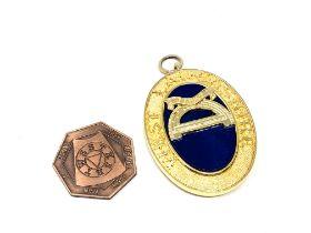 A Masonic medallion, West Lancashire,