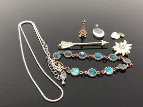 A small quantity of jewellery to include necklace, bracelet,