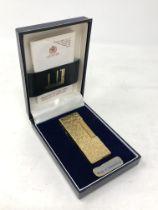 A vintage Dunhill rollagas lighter in original case