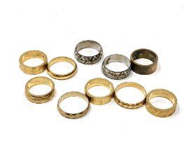 Ten dress rings