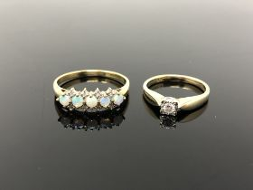 Two 9ct gold rings,