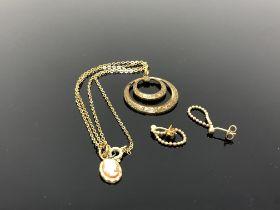 A pair of earrings,