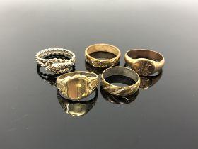 Five dress rings
