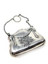 An antique silver purse