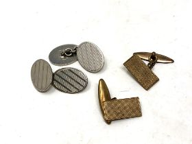 Two pairs of vintage cuff links