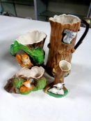 Four Hornsea vases (as found)