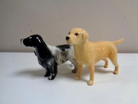 Two Beswick figures, dogs,
