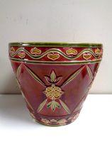 A 19th century Minton glazed pottery Art Nouveau planter, height 22.
