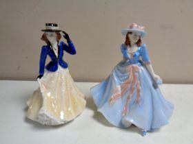 Two Royal Worcester Les Petites figures,