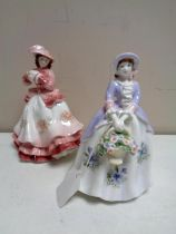 Two Royal Worcester limited edition figures, Sweet Pansy and Sweet Aster,