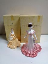 Two Coalport limited edition figures, Celebration, edition number 1057 of 1750,