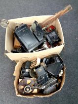 Two boxes of vintage Sinai projectors,