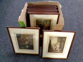 A box containing approximately eleven Cries of London prints