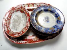 A group of Masons ironstone and other plates