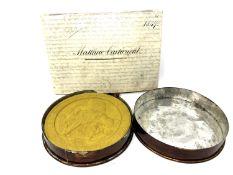 A velum warrant dated 1860 assigned to Matthew Cartwright,