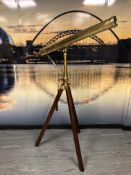 A late Victorian brass celestial refracting telescope by Horne, Thornthwaite & Wood,