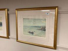 Henry Mayer : Coastal landscape, watercolour, 34 cm x 24 cm, together with the companion piece,