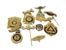 A quantity of silver gilt Royal Order of Buffalo's medals and badges