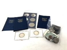 A quantity of coins to include decimal coins, commemorative crowns,
