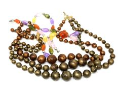 A quantity of beaded necklaces