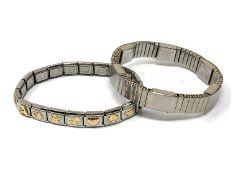 Two expanding bracelets