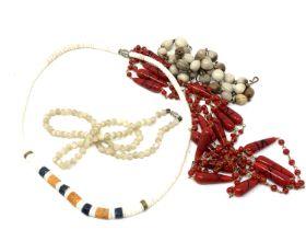 Four vintage necklaces